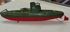 RARE 1938 WORLD WAR II ARNOLD SUBMARINE U-29  U-Boat GERMAN TIN WINDUP TOY