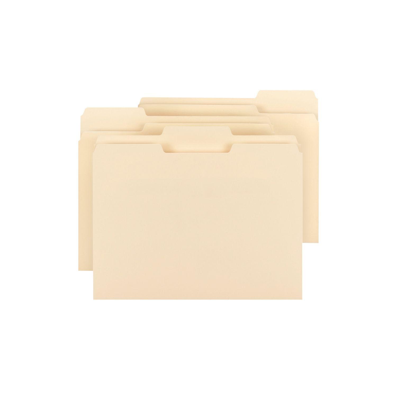 New Bulk Smead(10305) 1 3 Tab File Folders,Manila,(Letter,300ct.) CHEAP LOT SALE