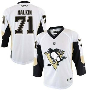 c5597bbb7 Details about Evgeni Malkin  71 Pittsburgh Penguins Reebok Youth White Replica  Jersey  65