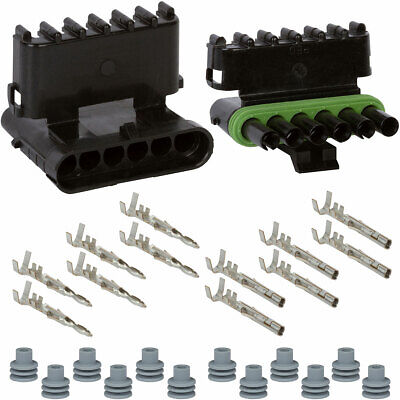 Weatherpack Connector Kit 14 16 AWG Delphi GM Made In USA 3 Circuits