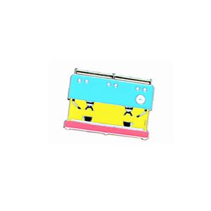 Blue Pink Yellow Barista Coffee Geek Espresso Coffee Machine Pin Brooch Badge