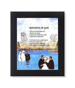 Black-Kingdom-of-God-Poem-Baptism-in-River-Wall-Picture-8x10-Art-Print