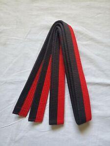 Taekwondo SIZE 1 Poom Belt BLACK/RED Martial Arts NEW
