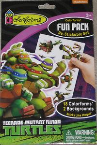 DISNEY FROZEN Colorforms Fun Pack Re-stickable 24 COLORFORMS 2 BACKGROUNDS NEW