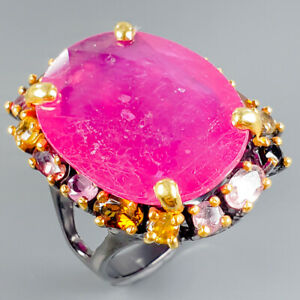 Handmade60ct-Natural-Ruby-925-Sterling-Silver-Ring-Size-8-75-R106548