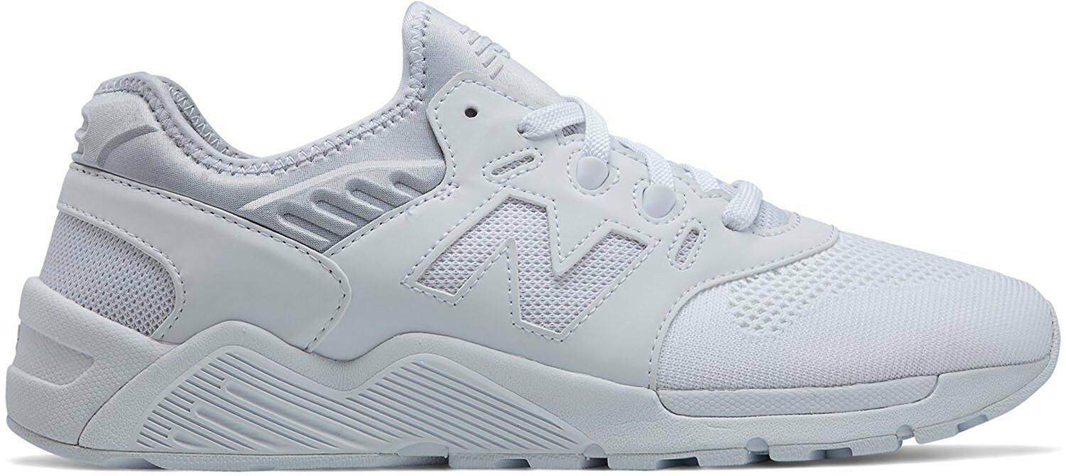 New Balance Men's Fashion Sneakers 009 White ML009DMB