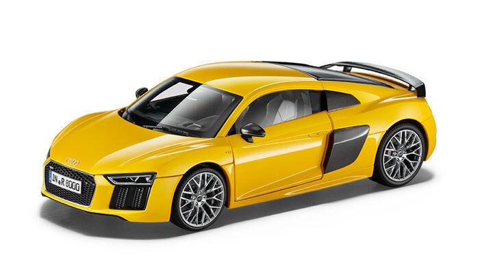 Original Audi R8 Coupe Model Car Vegas-Yellow 1 18 R8 Yellow
