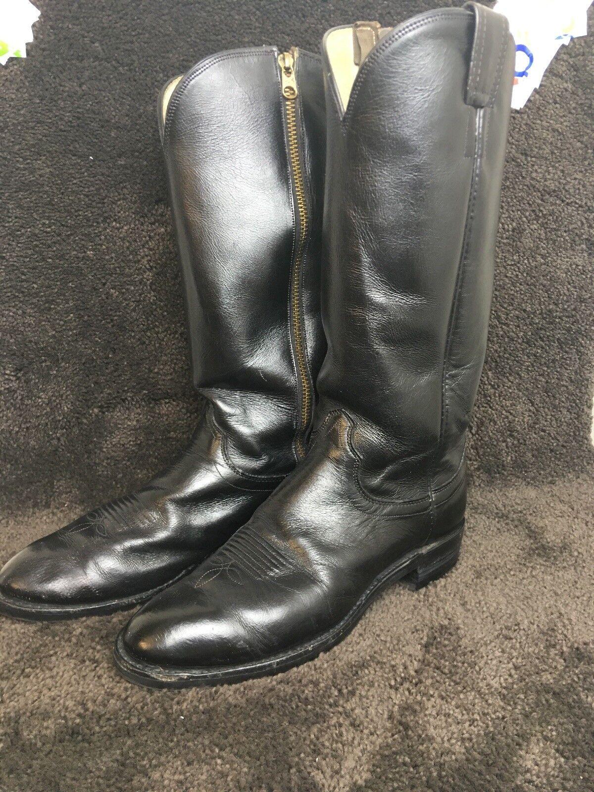 Vintage Olas the stivali Zide Talon Zip Vibram Soles  Tall Mid Calf Mens 8.5 B NARROW  consegna rapida