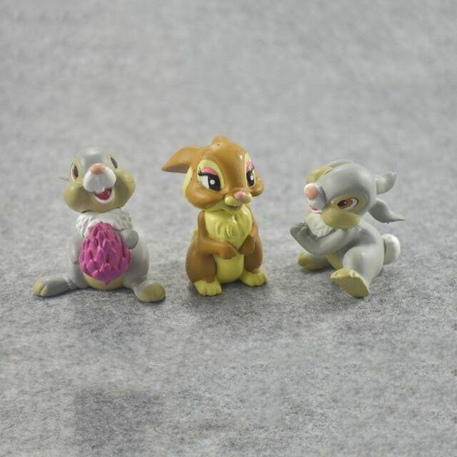 7 Teile Bambi Klopfer BAMBI KANINCHEN HÄSCHEN Figur Spielzeug Kuchen topper