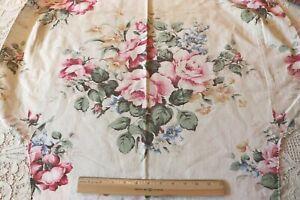 Pretty-Vintage-Pink-Rose-Cotton-Home-Dec-Fabric-c1940-1950-L-30-034-X-W-33-034