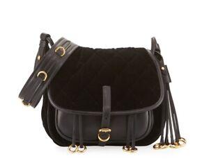 0778001c893c NWT Prada $2220 Velvet and City Calf Corsaire Leather Crossbody ...