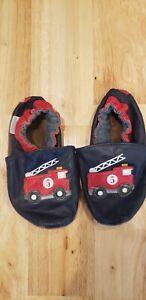 Robeez 12-18 months shoes, blue with fire trucks, baby ...