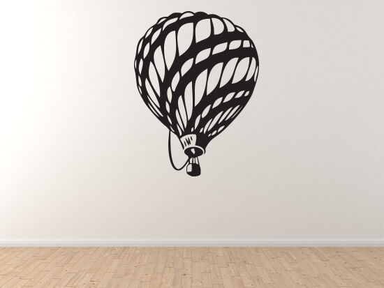 Flight Evolution - Hot Air Balloon 18th Century Stylized - Vinyl Wall Decal