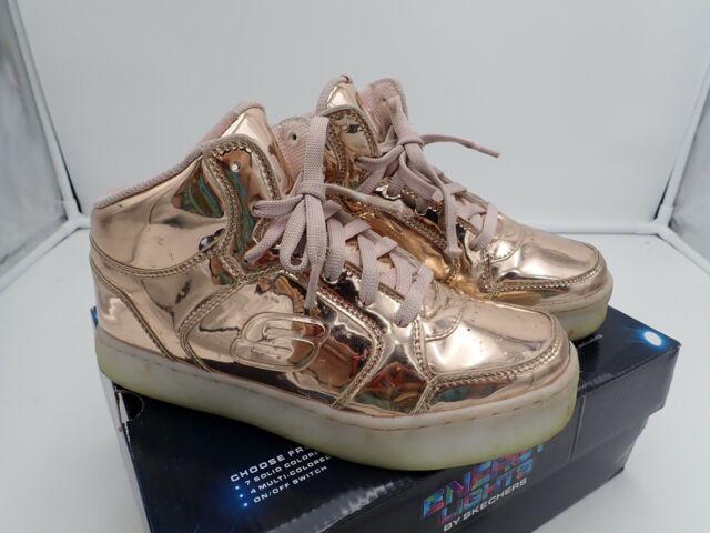 0e33f6c2f558 Skechers Kids Girls boys Energy Lights Sneaker Rose Gold Size 2 for ...