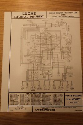 Daimler conquest roadster 1955 home \u0026 export original lucas wiring gmc fuse box diagrams daimler conquest roadster 1955 home \u0026 export original lucas wiring diagram