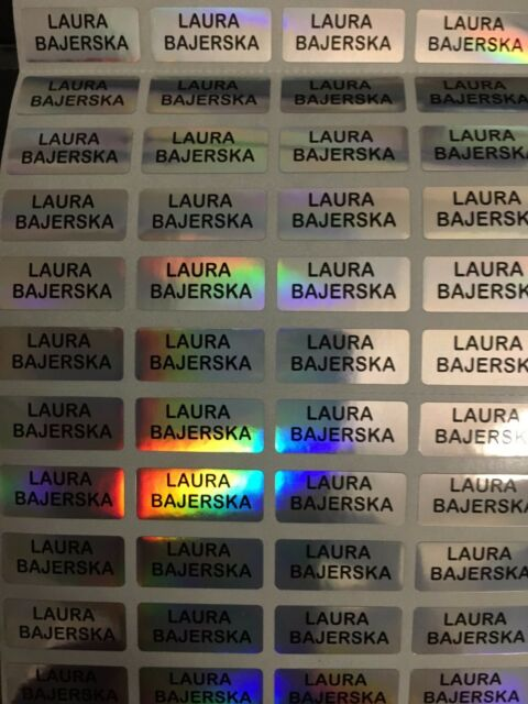 120 Laser Custom Name Stickers Daycare School Nursery 5 Get 1