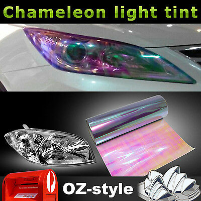 Transparent Clear Chameleon Car Fog Tail Light Cover Tint Film Head Lamp Sticker