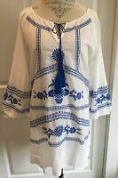 Sundance Catalog $118 Tunic/cover Up L Embroidered