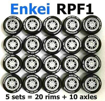 5 spoke silver rim fit Hot Wheels Tomica diecast 1:64 rubber tires 1 set