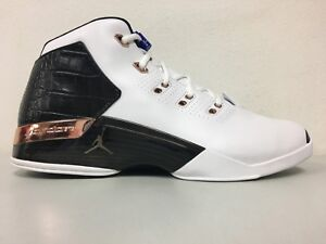 2a926ab9131cd3 Nike Mens Air Jordan 17+ Retro White Metallic Copper Black 832816 ...