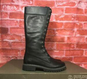 Timberland Dark Brown Premium 14inch Womens Leather Boots