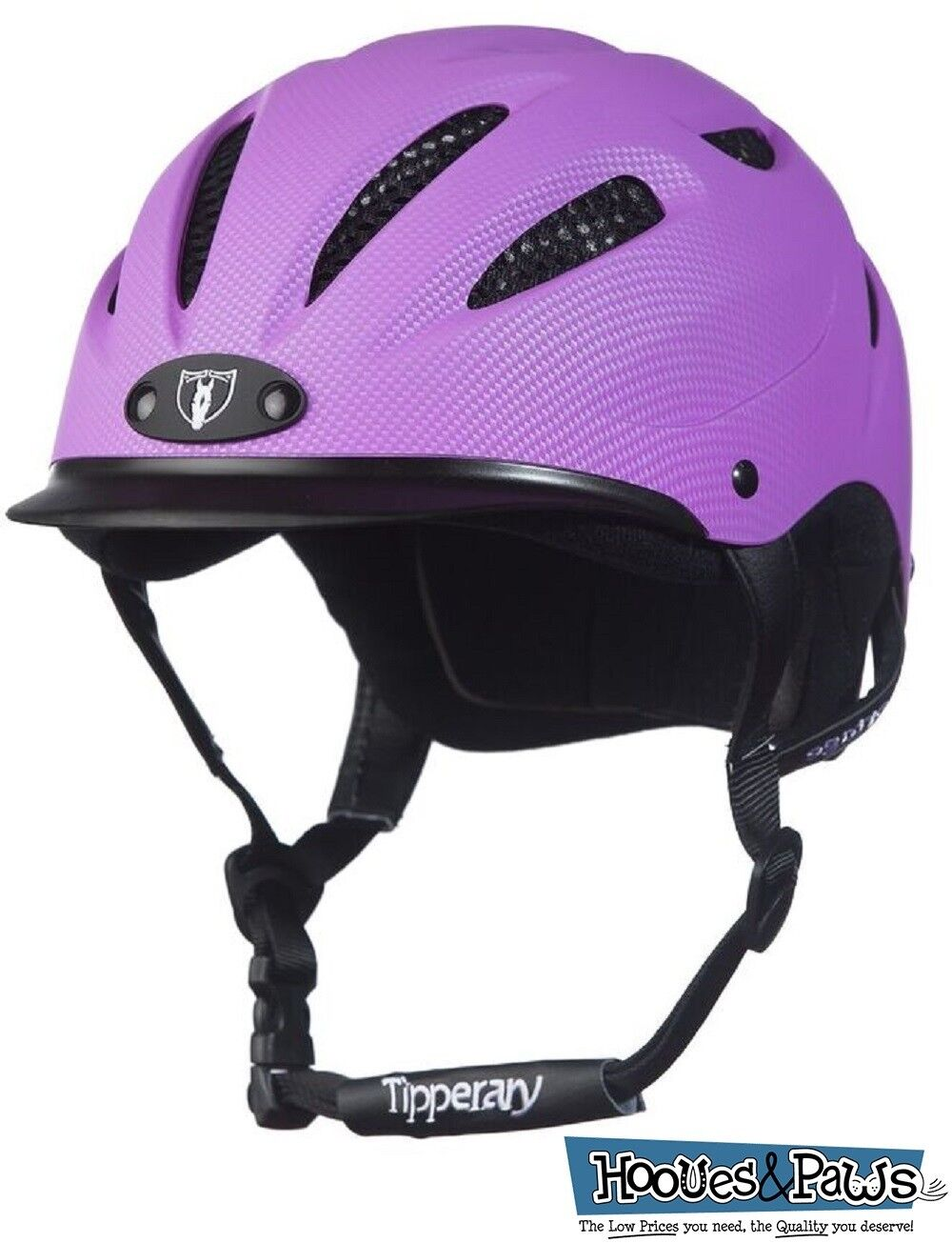 Tipperary Sportage Western Riding Helmet Low Profile Horse Safety viola