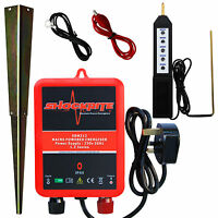 Electric Fence Mains Energiser Energizer Srm312 1.2j 2 Year Warranty + Tester