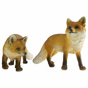 Image Is Loading Realistic Polyresin Red Fox Garden Statue Sculpture Animal