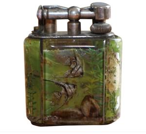 Super-seltene-Fuenfziger-Original-Dunhill-Aquarium-Tisch-Feuerzeug-Hand-Made-in-England