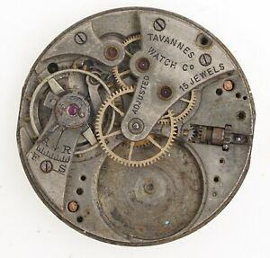 TAVANNES-WATCH-CO-13-LIGNE-TRENCH-WATCH-MOVEMENT-SPARES-REPAIRS-INCOMPLETE-W176