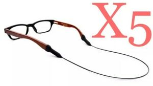 FIVE X5 Eyeglasses Sunglasses Neoprene Fishing Retainer Cord Durable USA SELLER