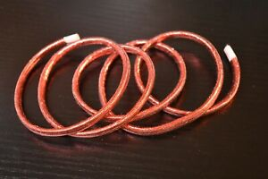 """1 Yard 1//16/"""" RED Small Mylar Minnow Tubing Piping Fly Tying"""
