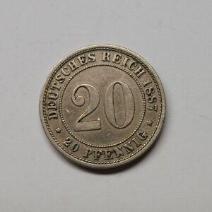 Kaiserreich-1887-E-20-Pfennig-kleiner-Adler-Fok23-2