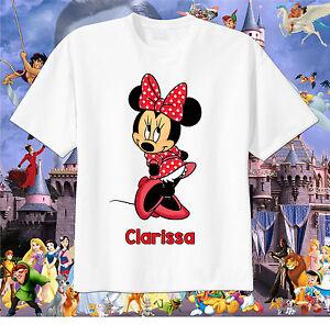 Minnie Mouse Mickey Ears Disney Custom T-shirt Personalize tshirt Birthday gift