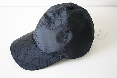 9952f7228a7 GUCCI 387578 KAPPE mit Monogrammmuster Nylon Baseball Cap blau Gr. L