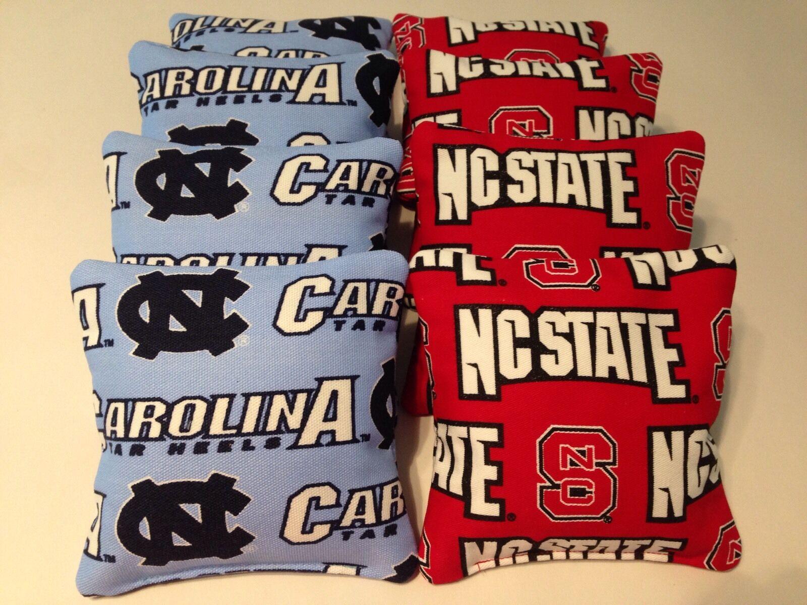 University of NORTH CAROLINA TARHEELS /& DUKE 8 ACA Cornhole Bean Bags UNC /& DUKE