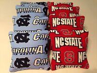 State Wolfpack North Carolina Tarheels Unc 8 Cornhole Bean Bags Heavy Duty