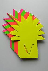 40 Stecksterne 8 X 11 Cm En Carton Mélangé Étiquette De Prix Vitrine Deco-afficher Le Titre D'origine