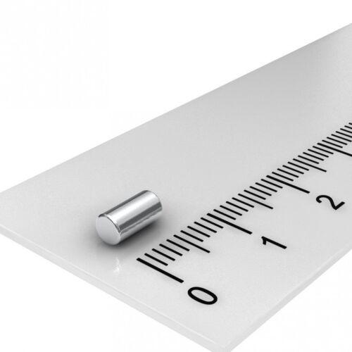 STABMAGNET HOBBY 10 STÜCK POWER NEODYM SUPER MAGNET 3x6mm VERNICKELT N45
