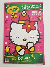 HELLO KITTY CRAYOLA Giant Coloring Pages 18 BRAND NEW