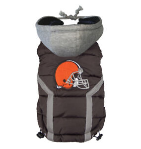 Cleveland-Browns-NFL-Little-Earth-Productions-Dog-Pet-Puffer-Vest-Sizes-S-XXXL