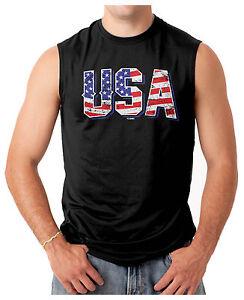 USA-American-Pride-Red-White-amp-Blue-Merica-Men-039-s-SLEEVELESS-T-shirt
