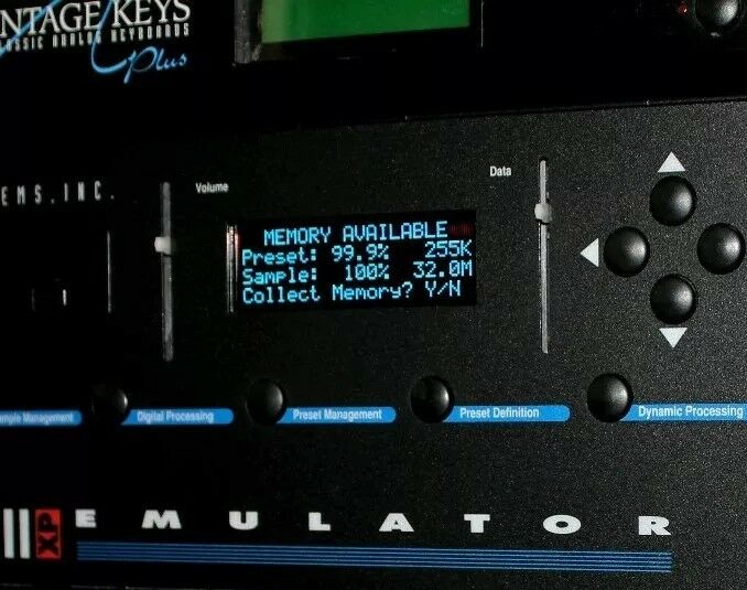 E-mu Emulator lll OLED Display