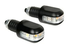 LED Motorcycle Handlebar Bar End Weights 3 Function Indicators Aluminium Black
