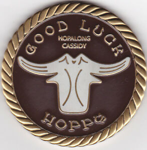 HOPALONG CASSIDY / GOOD LUCK CHALLENGE Geocoin COIN