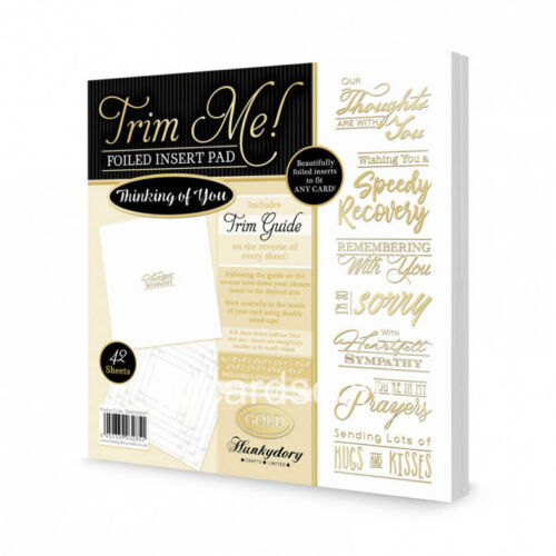 Foiled Insert Pads Hunkydory Trim Me Thinking of You  Gold /& Silver