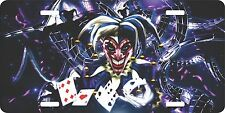 Jester Joker Clown Cards  Zombie Monster License Plate Car Truck Tag