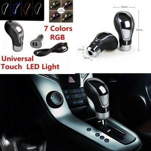 Car-Manual-Automatic-Gear-Stick-Shift-Lever-Knob-Shifter-Touch-Activated-RGB-LED