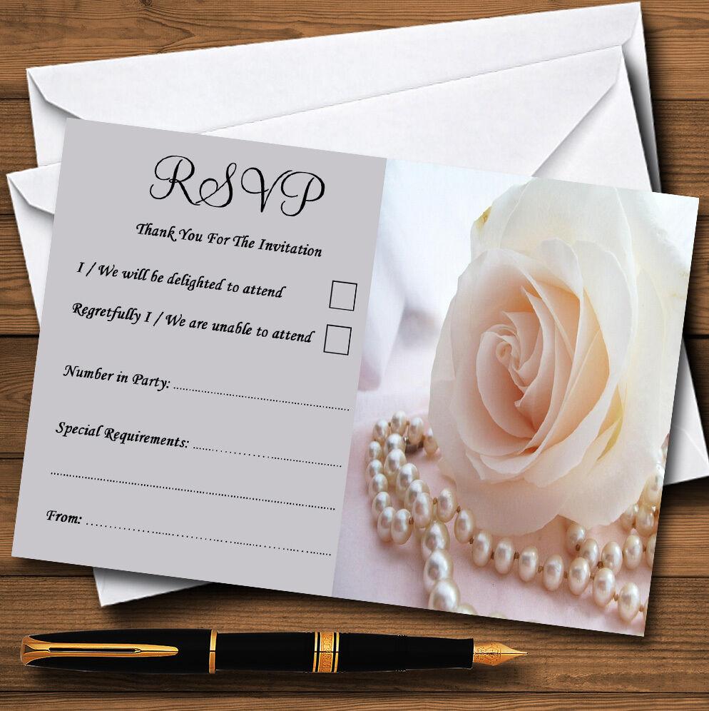 Lilas rose perles personnalisé fête mariage ou fête personnalisé RSVP cartes a35646