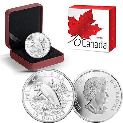 Maple Leaf Painted 2013 O Canada 1//2 oz Silver $10